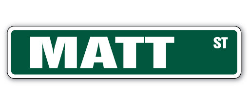 Matt Street Vinyl Decal Sticker