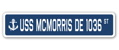 USS Mcmorris De 1036 Street Vinyl Decal Sticker