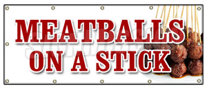 Meatballs On A Stick Banner