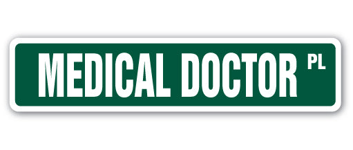Medical Doctor Street Vinyl Decal Sticker