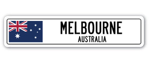 Melbourne, Australia Street Vinyl Decal Sticker