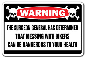 Messing With Bikers Vinyl Decal Sticker