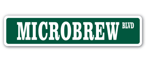 Microbrew Street Vinyl Decal Sticker