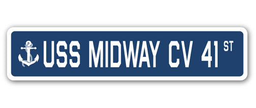 USS Midway Cv 41 Street Vinyl Decal Sticker