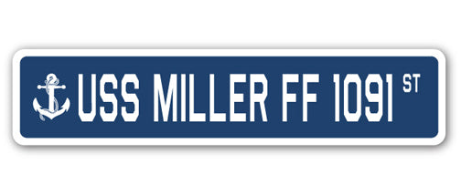 USS Miller Ff 1091 Street Vinyl Decal Sticker