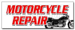 Motorcycle Repair Decal