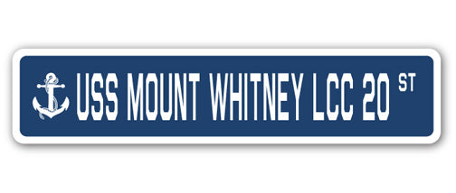 USS Mount Whitney Lcc 20 Street Vinyl Decal Sticker