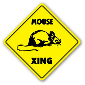 Mouse Crossing Vinyl Decal Sticker