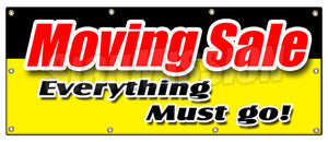 Moving Sale Everything Must Go Banner