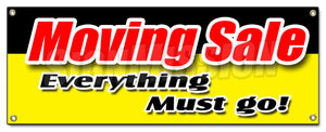 Moving Sale Store Banner