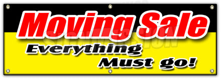 Moving Sale Vinyl Promotional Banner