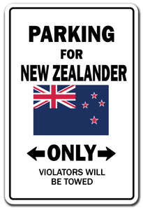For New Zealander Only New Zealand Flag Pride Vinyl Decal Sticker