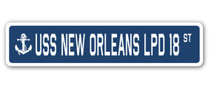 USS New Orleans Lpd 18 Street Vinyl Decal Sticker