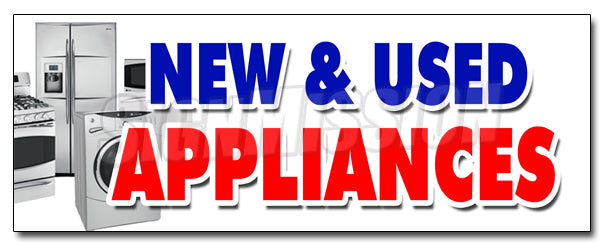 New & Used Appliances Decal