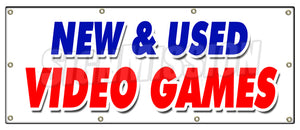 New And Used Video Games Banner