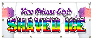 New Orleans Style Shaved Banner