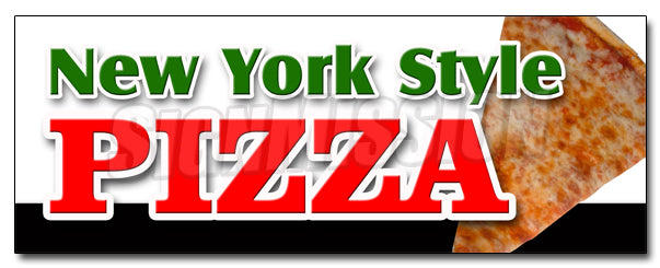 New York Style Pizza Decal