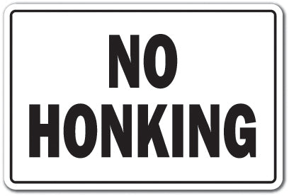 NO HONKING Sign
