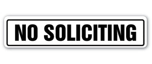 No Soliciting Sign Vinyl Decal Sticker