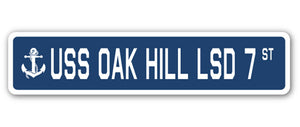 USS Oak Hill Lsd 7 Street Vinyl Decal Sticker
