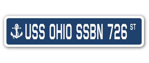 USS Ohio Ssbn 726 Street Vinyl Decal Sticker