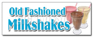 Old Fashioned Milkshakes Decal