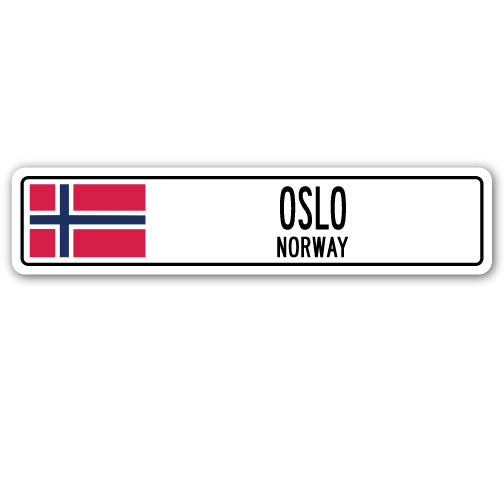 Oslo, Norway Street Vinyl Decal Sticker