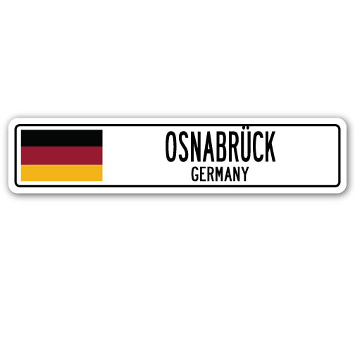 Osnabreck, Germany Street Vinyl Decal Sticker