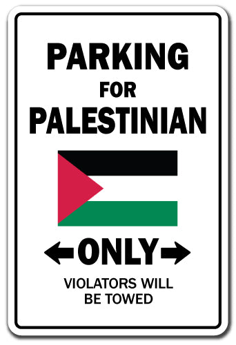 Parking For Palestinian Only Palestine Flag Pride Vinyl Decal Sticker