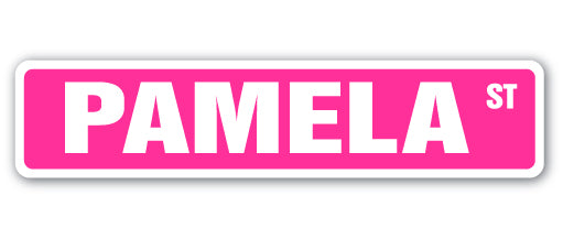 Pamela Street Vinyl Decal Sticker