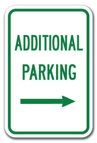 Additional Parking with Right Arrow