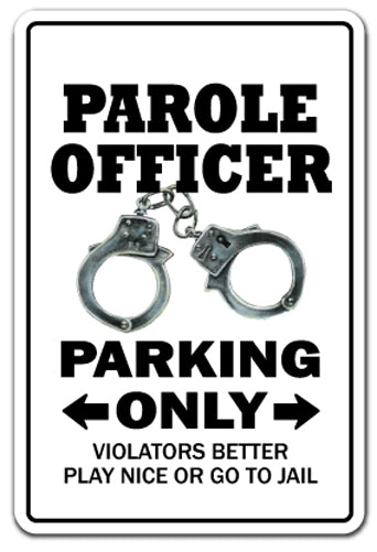 Parole Officer Parking Vinyl Decal Sticker