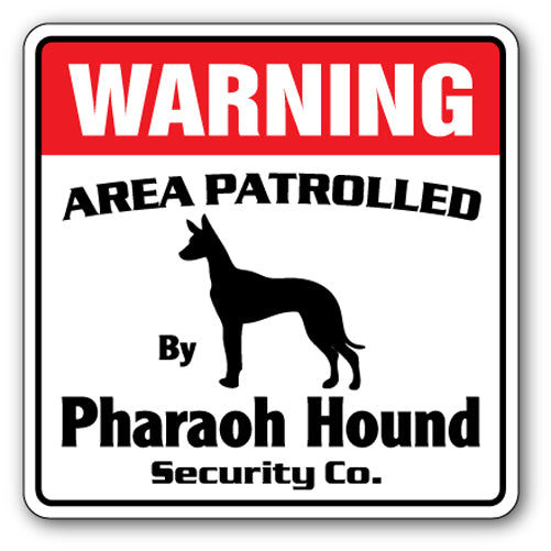 Pharaoh Hound Security Vinyl Decal Sticker