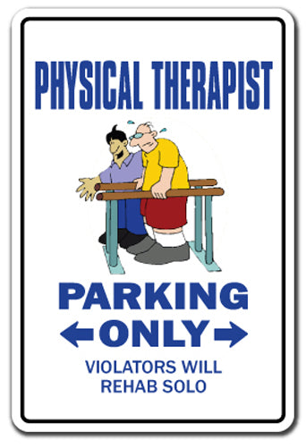 Physical Therapist Therapy Rehab Gift Vinyl Decal Sticker