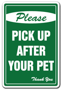 Please Pick Up After Your Pet No Dog Poop Vinyl Decal Sticker