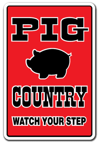 Pig Country Vinyl Decal Sticker