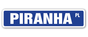 Piranha Street Vinyl Decal Sticker
