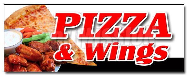 Pizza & Wings Decal