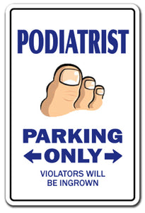 Podiatrist Vinyl Decal Sticker