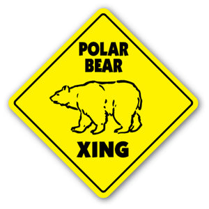 Polar Bear Crossing Vinyl Decal Sticker
