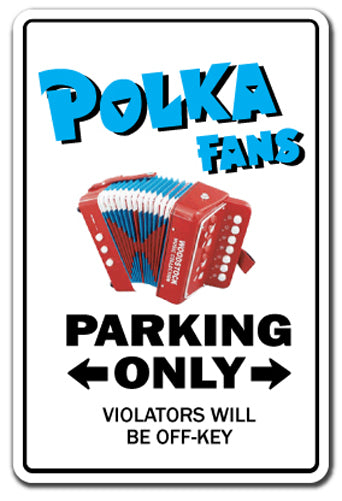 Polka Fan Vinyl Decal Sticker