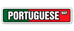 Portuguese Flag Street Vinyl Decal Sticker