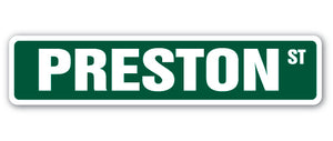 Preston Street Vinyl Decal Sticker