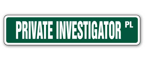 Private Investigator Street Vinyl Decal Sticker