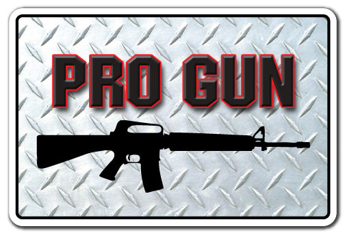 Pro Gun Vinyl Decal Sticker