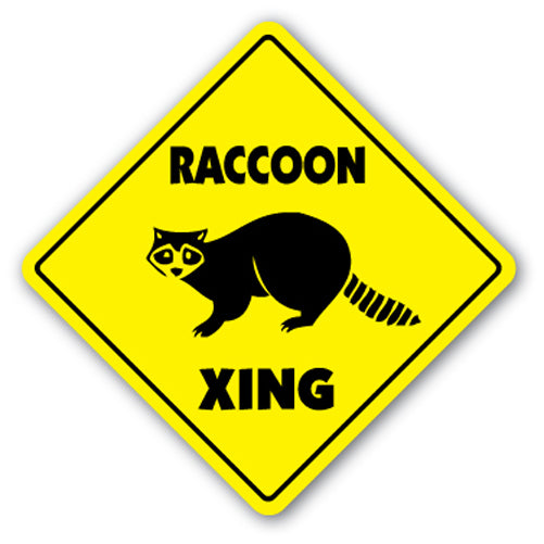 Raccoon Street Vinyl Decal Sticker