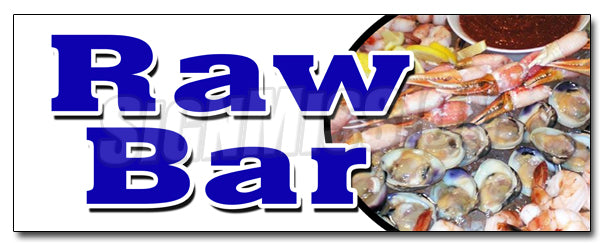 Raw Bar Decal