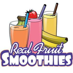 Real Fruit Smoothies Die Cut Decal