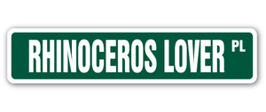 Rhinoceros Lover Street Vinyl Decal Sticker