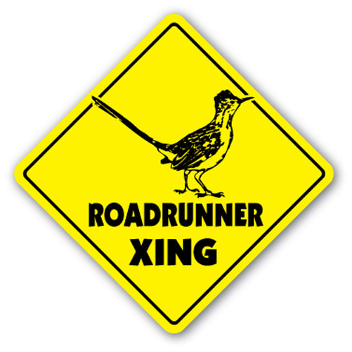 Roadrunner Crossing Vinyl Decal Sticker